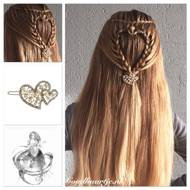 Heart shape twist waterfall braid with a beautiful hairclip from Goudhaartje.nl #halfup #halfupdo #hair #hairstyle #braid #beautifulhair #longhair #hairclip #heart #heartshape #hairaccessories #waterfallbraid #twistwaterfallbraid #haar #haarstijl #vlecht #mooihaar #langhaar #haarclip #hart #hartje #hearthair #watervalvlecht #haaraccessoires #goudhaartje