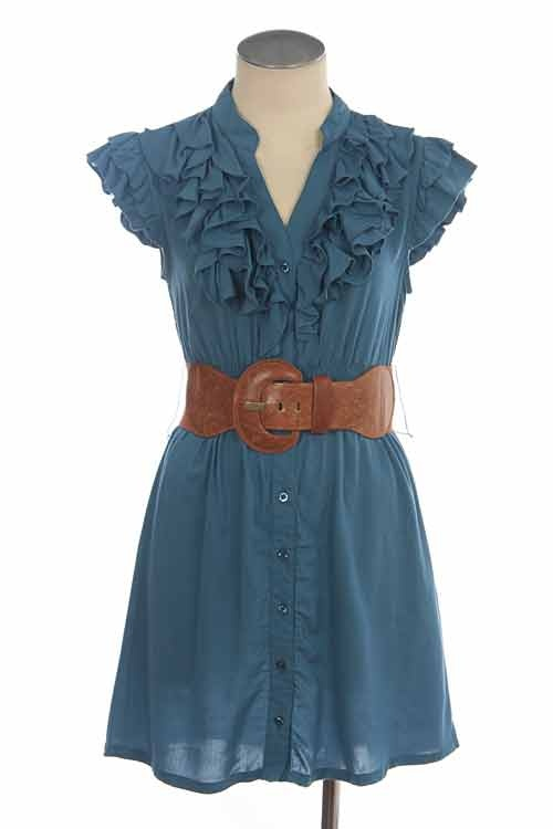 tunic: Big Belts, Posh Style, Color Blue, Cute Dresses, Brown Belts, Awesome Dresses, Teal Tunics, Brown Boots, Cowboys Boots