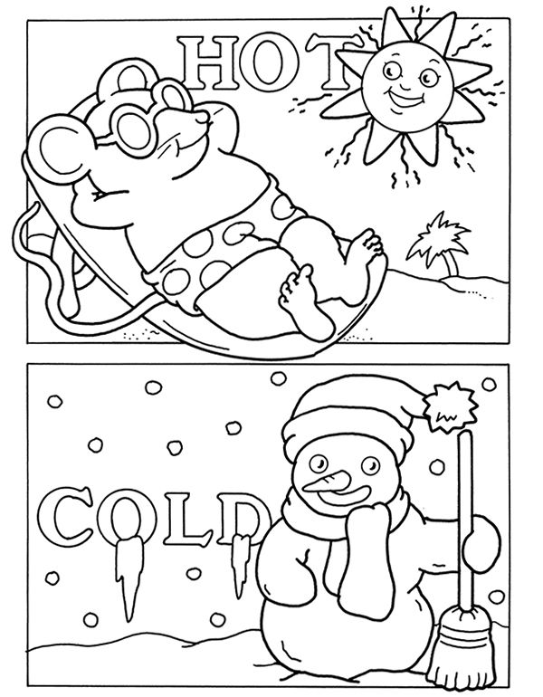 Pin by Linda Modrall on coloring 2 Opposites preschool
