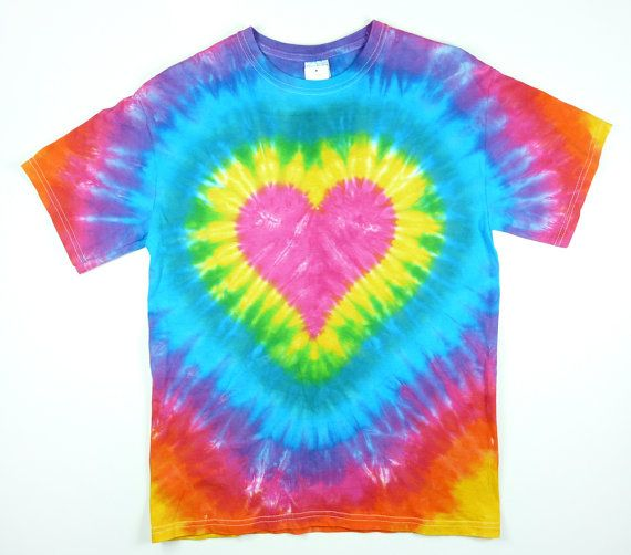 Size 2X or 3X Tie Dye T Shirt / Pink Heart Tie Dye / Eco-friendly