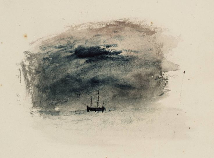 William Turner - The Black Boat (Vignette Study for the Boat in 'The Andes Coast' for Campbell's 'Poetical Works')