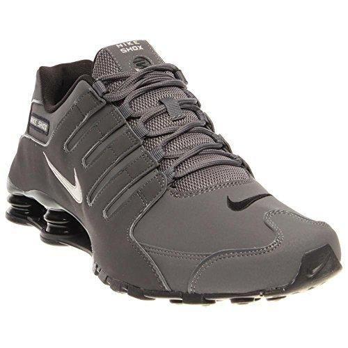 Nike Mens Shox Nz Running Shoe Dark Grey/Metallic Irn Or/Anthracite/Bl 10.5 D(M) US