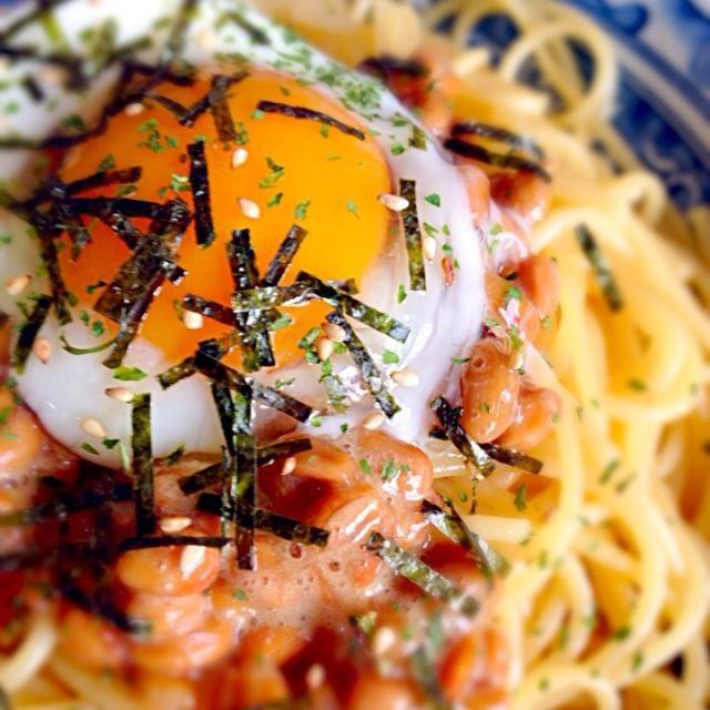 味付けは麺つゆです(^_^) 大根おろしとかポン酢も合いそう。 - 10件のもぐもぐ - 納豆パスタ by pakin