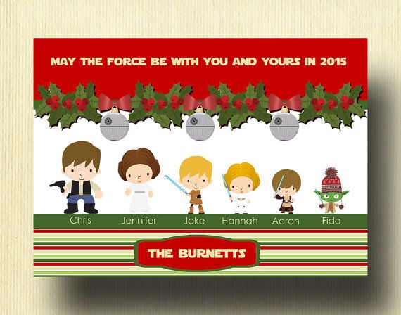 11 best star wars family images on pinterest family wall for Unique family christmas cards