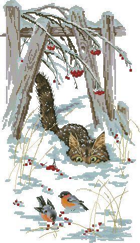 Похождения кота Василия - Животные - Схемы вышивки - Иголка