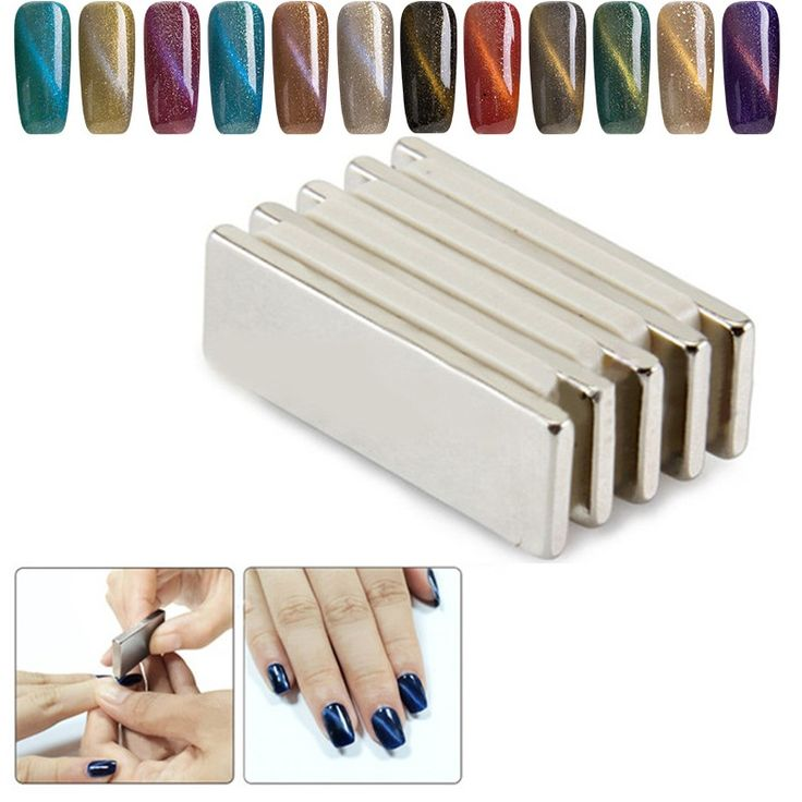 1 Stück 3D Nagelgelpoliermittel Katzenaugen Magnet Scheibe 3D Wirkung magnetische Stick Nail art Lack Maniküre Werkzeug 3d-effekt UV Gel werkzeuge