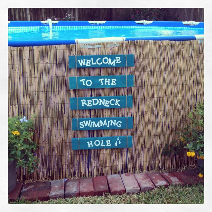 Dressing up our above ground pool
