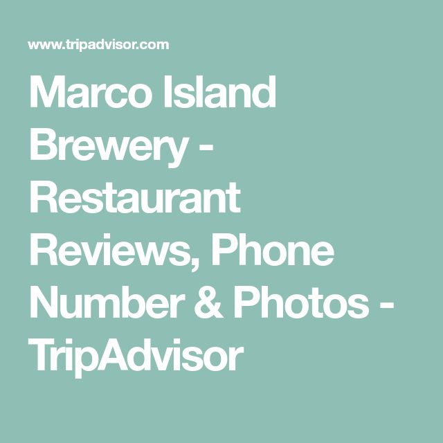 Marco Island Brewery - Restaurant Reviews, Phone Number & Photos - TripAdvisor