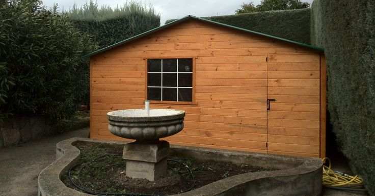 La construcción de casita de madera