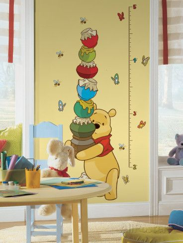 Winnie the Pooh - Pooh Peel & Stick Growth Chart Wall Decal at AllPosters.com