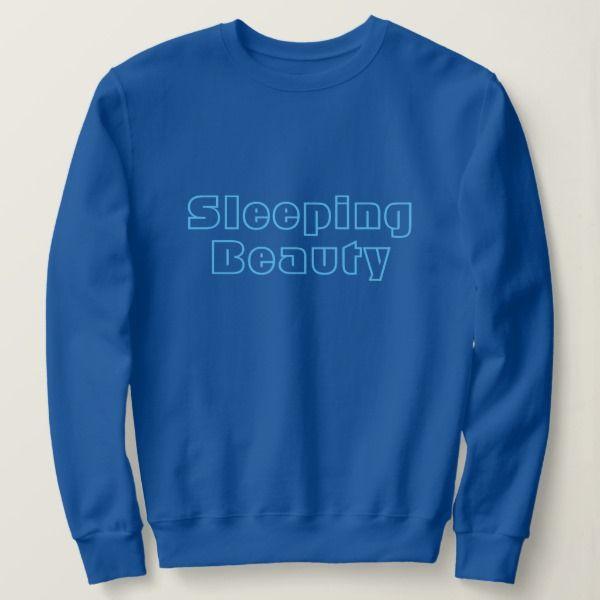 """Sweatshirt """"Sleeping beauty"""" blauw."""