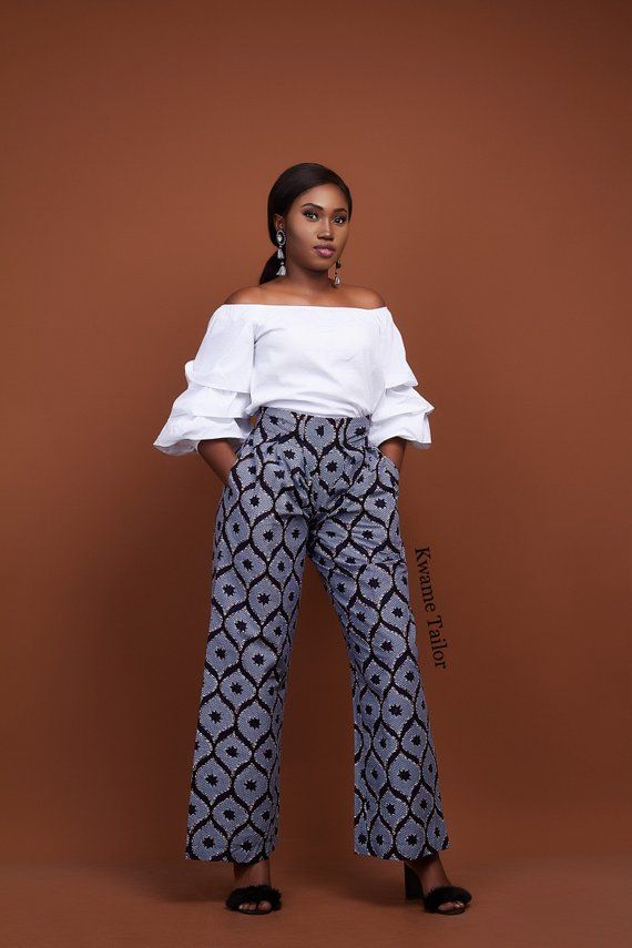 9a33a57ec5 Aba Pants- Wide Leg Pants, Ankara Trousers, African Print Pants, Ankara  Wide Leg Trousers, Women Ank