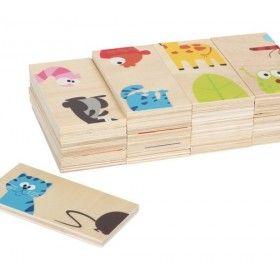 28 pevných doštičiek z preglejky potlačenej motívmi zvierat v krásnom designe. Deti sa rýchlo naučia postup hry a dospelí si musia dať pozor, pretože deti sú pri tejto hre neúnavné.