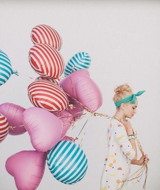 Herz-und-Streifen-Ballon