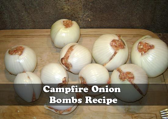 I camp a lot with my family, and I mean a lot. Having good food around the campfire is a necessity in our minds. We tried these and they were a huge hit With the Fourth of July quickly approaching, if you are like me and you are beginning to put together your patriotic camp fire menus, don't forget the artillery! Not just fireworks, but bombs. Onion Bombs, that is.
