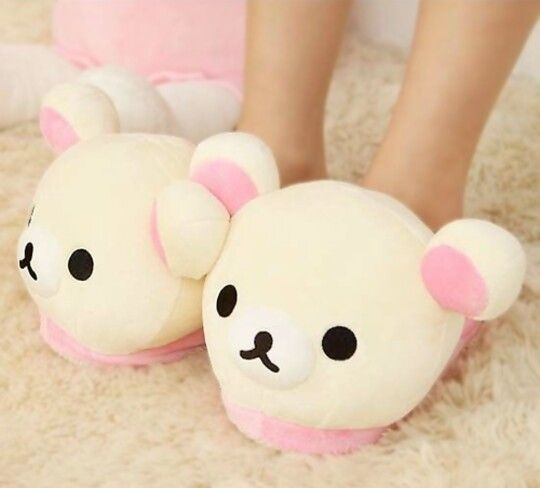 Rilakkuma slippers!  U can find these on ebay! I want some!