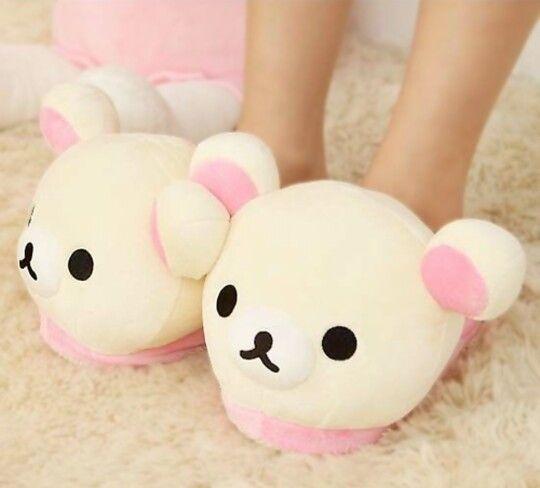 Rilakkuma slippers!  U can find these on ebay! I want some!