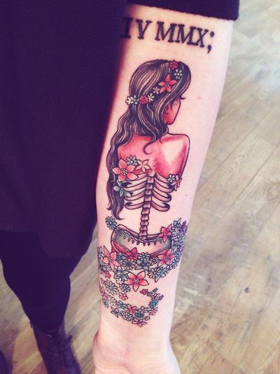 Skeleton tattoo by Tim Hendricks - Skullspiration.com - skull designs, art, fashion and more