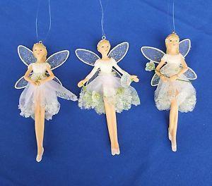 Gisela Graham Snowdrop Fairy Christmas Tree Decorations Angel Figurine Fairies | eBay