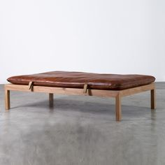 vintage gym mat bench.Leather daybed by Inside & Outside | Inside and Outside