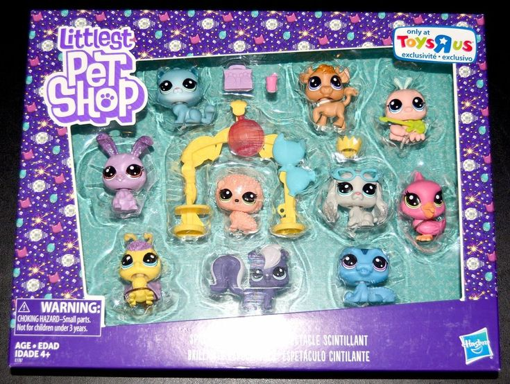 Littlest Pet Shop Brand New Sparkle Spectacular Toys R Us Exclusive 10 Pet Set  | eBay