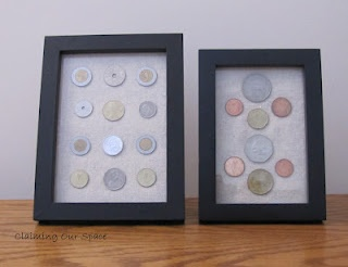 How to frame & display coins. I want to do this, but with vintage buttons from my collection!