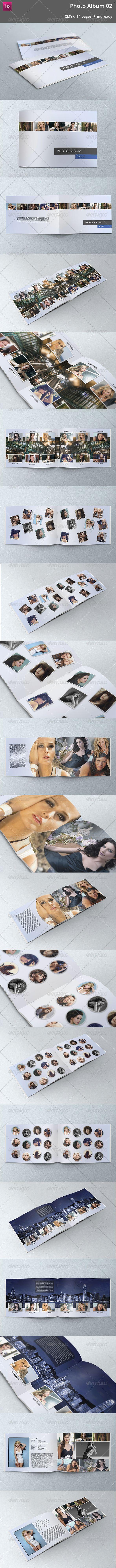 Modern Photo Album 02 - #Photo #Albums Print #Templates Download here: https://graphicriver.net/item/modern-photo-album-02/5351210?ref=alena994