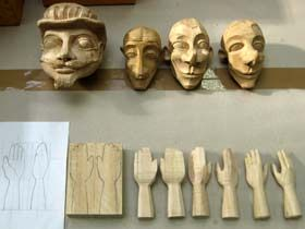Basic guidelines for carving a wooden puppet head