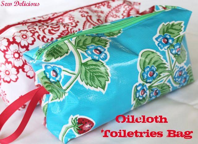 oilcloth (of tafelzeil) toilettas