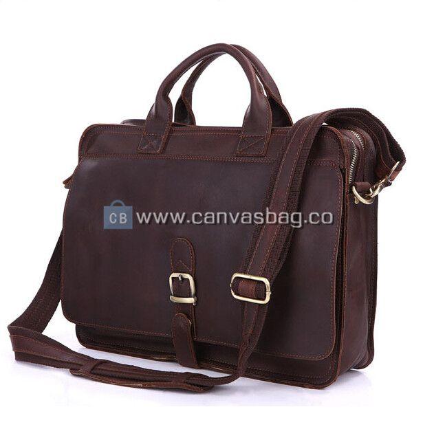 Mens Leather Laptop Messenger Bag Leather Satchel