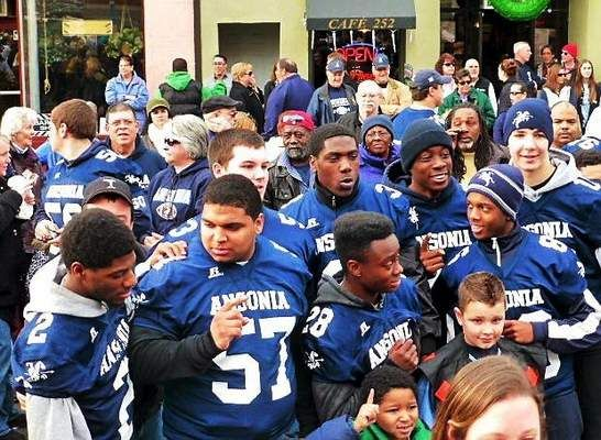 Ansonia 'Parade of Champions' celebrates football, cheerleading teams! Photo by Patricia Villers www.nhregister.com