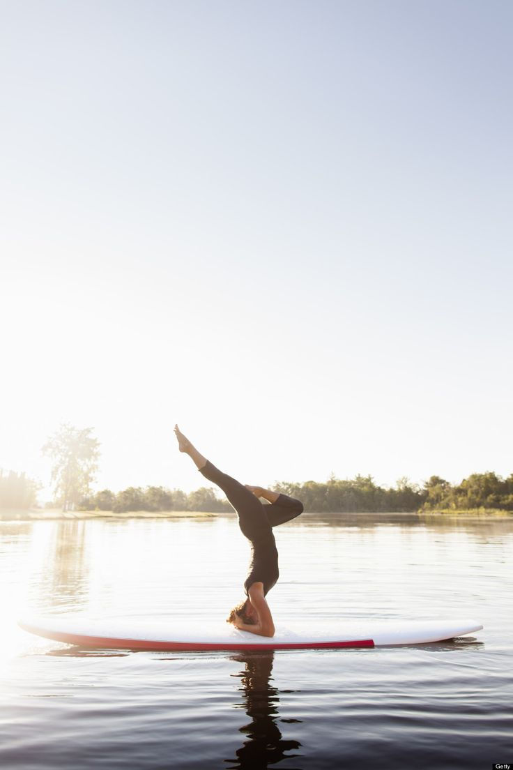 Yoga on a paddle board @Hugh Pyle Pyle Whitaker - look whats on Pinterest! hahahaha  it's meeeeee #findyouryoga www.yogatraveltree.com