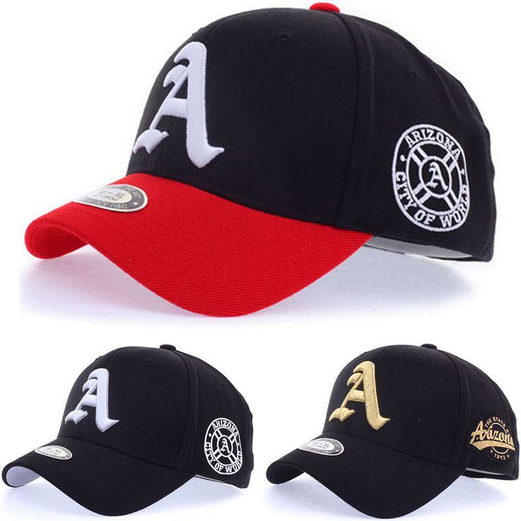 Mens Womens Unisex Arizona A Logo Flexfit Baseball Cap Stretch Fit Hats 3 Colors #hellobincom #BaseballCapHats