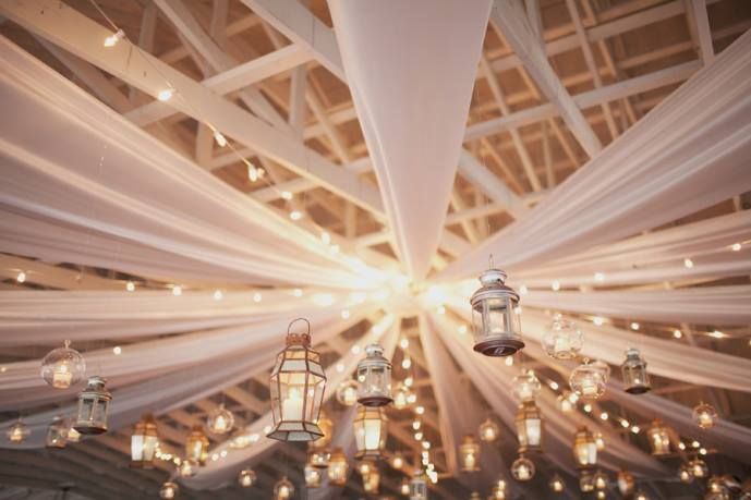 Beautiful lantern decor via Project Wedding | Photo: Jodi Miller