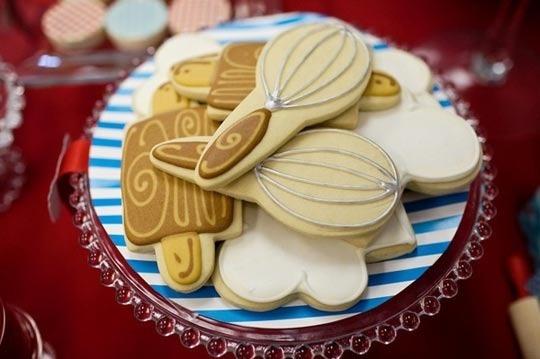 kitchen utensil cookies