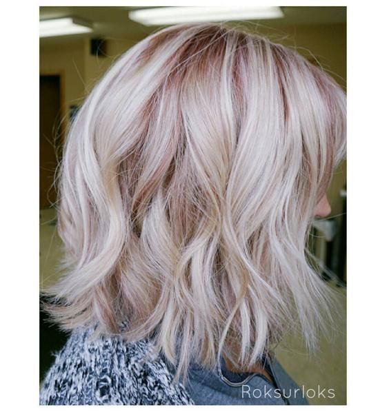 Love this rooty rose #blonde by roksurloks! Formula 1: 2oz #KenraColor 8B + 1oz 10B + 1/8oz 6R + 20 Volume. Formula 2: No Ammonia Lightener + 10vol.