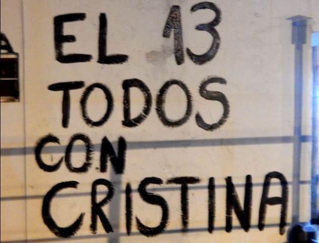 #13ATODOSCONCRISTINA : CARAVANAS DESDE TODO EL PAIS ACOMPAÑANDO A CRISTINA    El pueblo se convoca para acompañar a quien defendió sus intereses durante 12 años  #12A #Neuquen #TodosConCristina http://pic.twitter.com/tBLRiSMTip   Juan Manuel Meyer (@meyerjm1) 10 de abril de 2016  El pueblo argentino se movilizará el próximo miércoles 13 de abril frente los tribunales de Comodoro Py para acompañar a la ex presidenta Cristina Kirchner quien fue citada a declarar ese día por el juez federal…