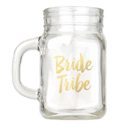 #Team Bride Mason Jar - #drinkware #cool #special