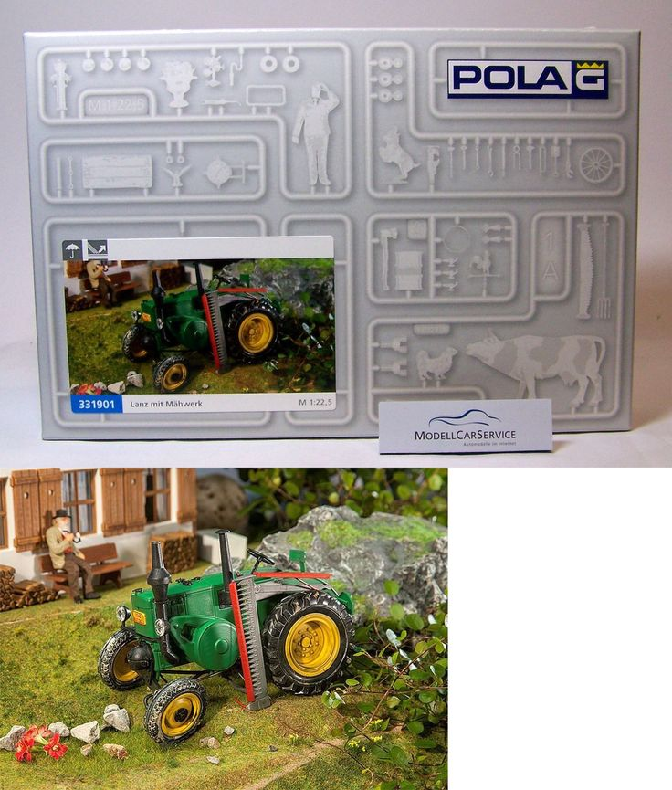 Other G Scale Parts and Accs 30651: Pola 1:22,5 (G): 331901 Lanz Bulldog, Green, With Corn Thresher - Kit -> BUY IT NOW ONLY: $35.65 on eBay!