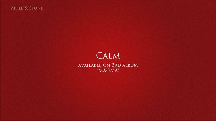 Apple & Stone - CALM (3rd album - Magma) BUY on : Website (Album 10,- USD) - http://www.appleandstone.com