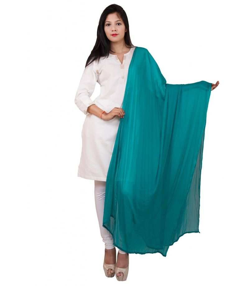 Ocean Blue Color  Soft Chiffon Dupatta