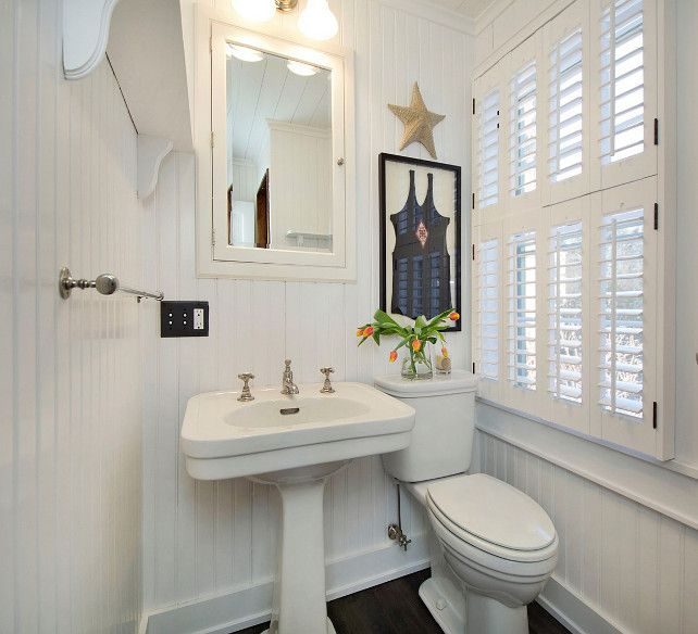 Beadboard Over Tile In Bathroom: A Beauty Of A Bathroom On Pinterest