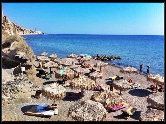 Eros beach, Santorini, Greece