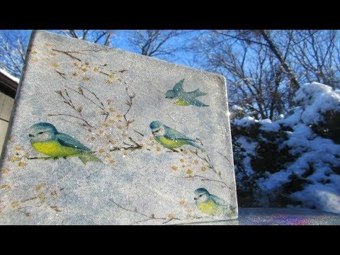 How to Decoupage a Glass Block - YouTube