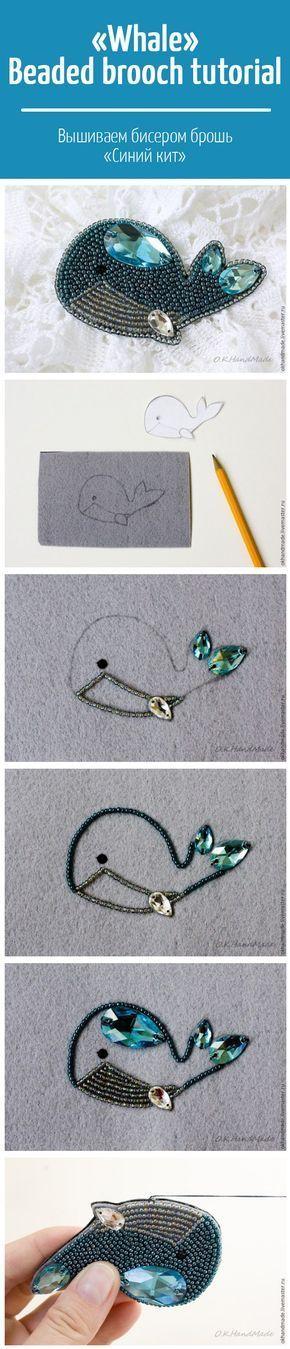 Whale Beaded brooch DIY