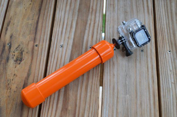 Bright orange DIY GoPro Float Handle