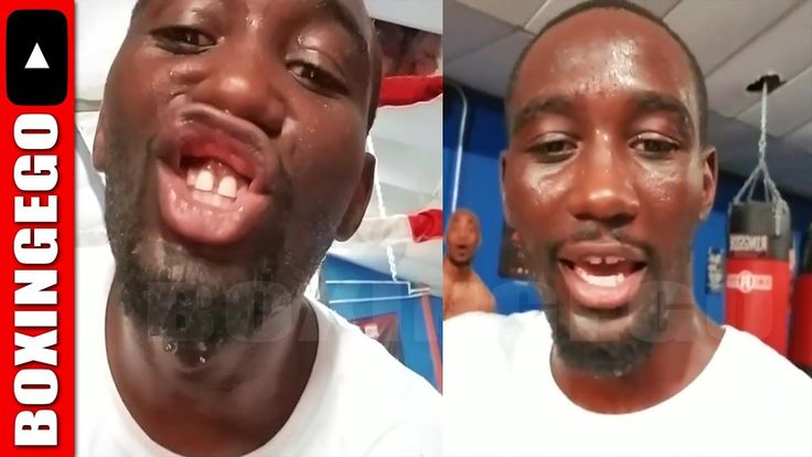 (SAVAGE!) TERENCE CRAWFORD COMES OFF STREET STARTS SPARRING, BUSTS HIS L...