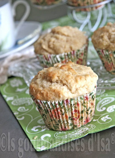 Muffins à l'avoine, aux pommes et au sirop d'érable