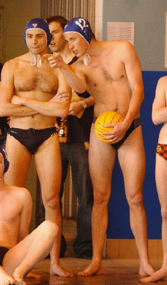Prince William competes in Water Polo Competition at St. Andrews University in Scotland on 17 Apr 2004
