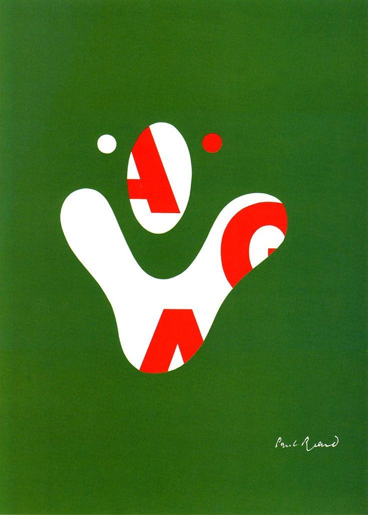 paul rand   aiga poster  1968   i really like the how